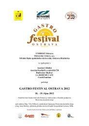 Gastrofestival 2012 - Soutěžní propozice - NetNews