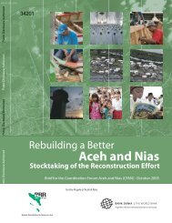 Rebuilding a better Aceh and Nias - International Recovery Platform