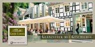GLANZSTÜCK MIT GESCHICHTE - Bayer Gastronomie GmbH