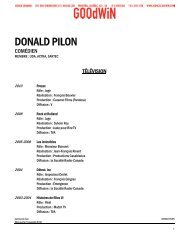 DONALD PILON - Agence Goodwin