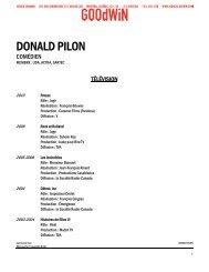 DONALD PILON - Agence Goodwin