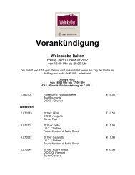 Vorankündigung - Bayer Gastronomie GmbH