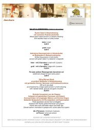 Abendkarte - Bayer Gastronomie GmbH