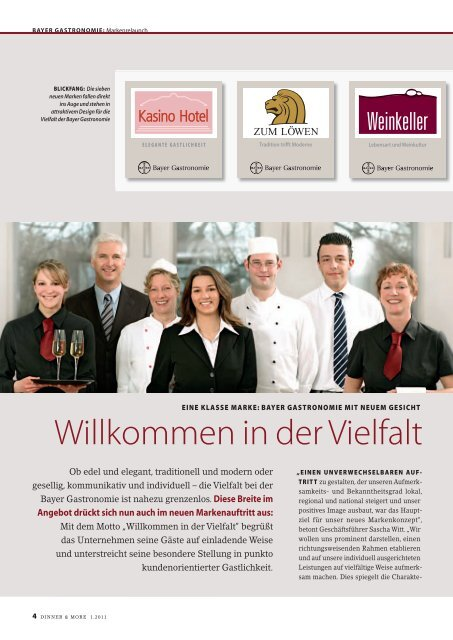 EISKALT ERFRISCHEN! - Bayer Gastronomie GmbH
