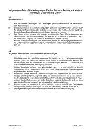 Restaurant - Bayer Gastronomie GmbH