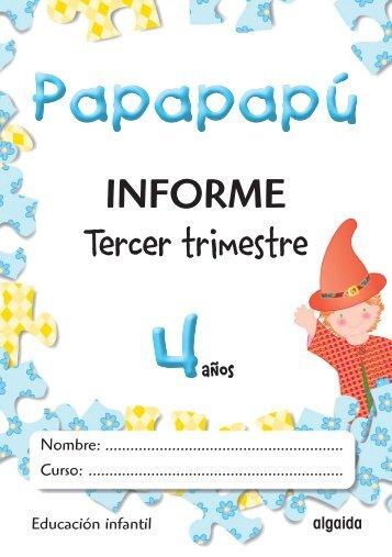 Registro Evaluación 3º Trimestre. Papapapú 4 - Algaida