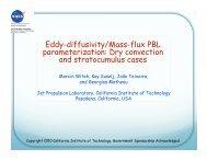 Eddy-diffusivity/Mass-flux PBL parameterization: Dry ... - cmmap
