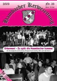 Tibor Rettig - Hambacher Brennesselkerwe