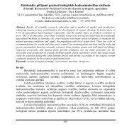 Zinātniskie pētījumi praksei bioloģiskās lauksaimniecības sistēmās