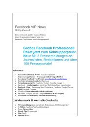 Großes Facebook Professionell Paket jetzt zum Schnupperpreis!