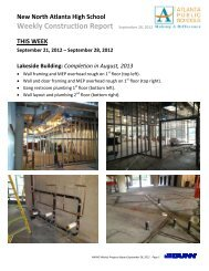 Weekly Construction Report September 28, 2012 - Atlanta Public ...