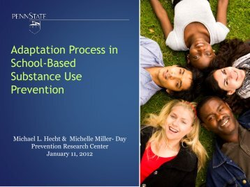 Adaptation Process in School-Based Substance Use Prevention