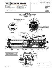 AIR/HYDRAULIC PUMP - SPX