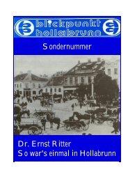 Dr. Ernst Ritter EIN GROSSER - Familie Polsterer