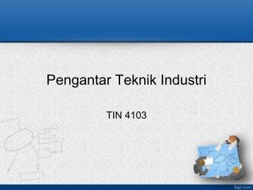 Organisasi dan Manajemen Industri