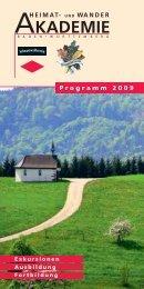 Programm 2009 - Heimat- und Wanderakademie Baden-Württemberg