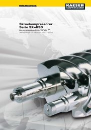 Skruekompressorer SX–HSD - KAESER Kompressorer