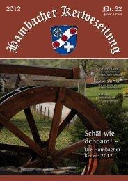 Schäi wie dehoam! – - Hambacher Brennesselkerwe