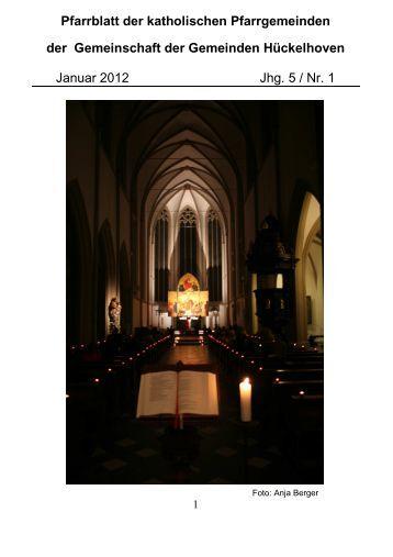 Pfarrblatt der katholischen Pfarrgemeinden der Gemeinschaft der ...