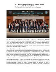 21 INTOSAI WORKING GROUP ON IT AUDIT (WGITA) 25 – 26 ...