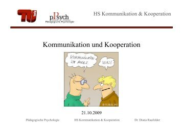 Kommunikation und Kooperation - TU Berlin