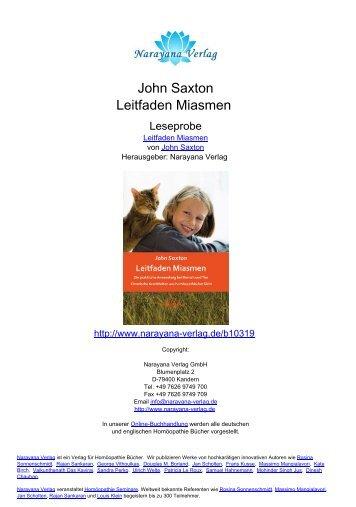 John Saxton Leitfaden Miasmen