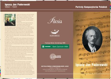 Ignacy Jan Paderewski - Silesia - Art.PL