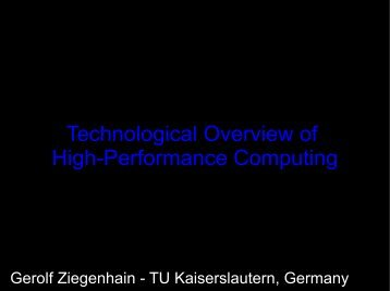 Technological Overview of High-Performance Computing