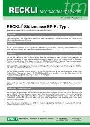 07191 Stützmasse EP-F-Typ L - RECKLI GmbH: Home