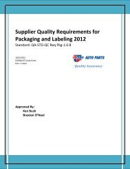 View the Supplier Quality Requirements for Packaging and Labeling