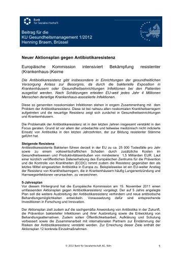 Beitrag für die KU Gesundheitsmanagement 1/2012 Henning Braem ...