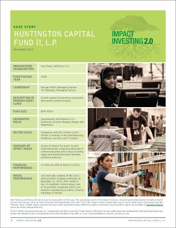 Huntington - Pacific Community Ventures