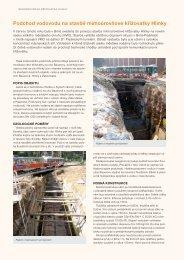 Podchod vodovodu na stavbě mimoúrovňové křižovatky Hlinky