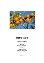 Membrasin – Scicom - Scientific Communication AB