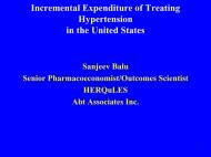 Incremental Expenditure of Treating Hypertension ... - Abt Associates