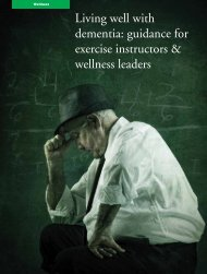 Living well with dementia: guidance for exercise ... - Vida Wellness