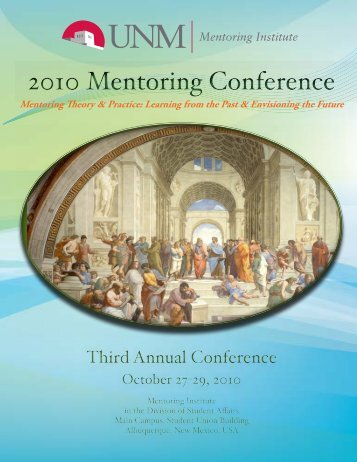 Conference program - Mentoring Institute - University of New Mexico