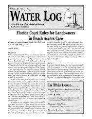 Water Log 27.3 - Mississippi-Alabama Sea Grant Legal Program
