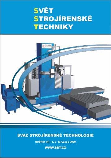 Svět strojírenské techniky číslo 2/2009 (PDF, 5.04 MB) - Svaz ...