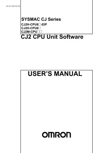 CJ2 CPU Unit Software User's Manual - CIP ETI