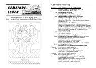 Gottesdienstordnung - Pfarrei hl. Dreifaltigkeit