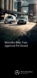 Mercedes-Benz Approved Pre-Owned Vans
