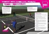 tennis - box leagues - School Games