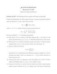 QUANTUM MECHANICS Homework set #20: Relativistic Quantum ...