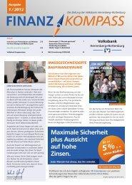 Ausgabe 1, Jahr 2012 - Volksbank Herrenberg-Rottenburg eG
