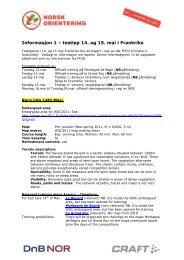 Informasjon 1 – testløp 14. og 15. mai i Frankrike