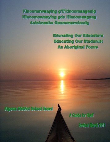 Educating Our Educators Guide for Staff - Algoma District School ...