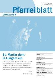 Pfarreiblatt 20 – St. Martin zieht in Lungern ein - Kirche Obwalden