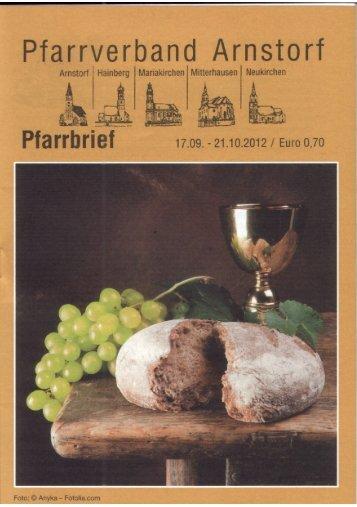 Pfarrbrief - Pfarrverband Arnstorf