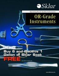 OR-Grade I n s t r u m e n t s - Sklar Surgical Instruments